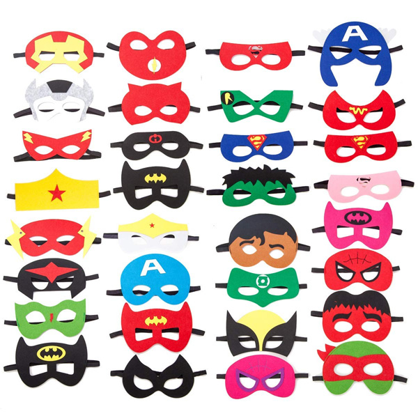 Joy day / 32パック入り スーパーヒーローマスク - ハロウィングッズ -