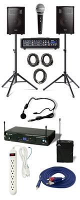 【ワイヤレスヘッドセットPAセット】 Alesis(アレシス) / PA SYSTEM IN A BOX BUNDLE 【AL-SRI-011】 / KWS-899P/HM-38 《講演 ・イベントに最適》 2大特典セット