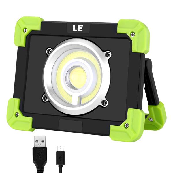 LE(Lighting EVER) / USB Rechargeable LED Work Light - USB充電式LEDランタン 6000mAh バッテリー内蔵 調光対応 防水仕様 -
