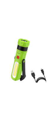 LE(Lighting EVER) / Multi-Mode Dimmable COB LED Flashlight - LED懐中電灯/USB充電式/180度回転可能/調光対応 -