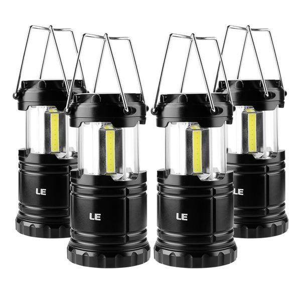 LE(Lighting EVER) / LED Battery Powered Camping Lanterns 4unit -  LEDバッテリー駆動 キャンプ用ランタン/防水仕様/4個セット -