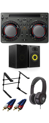 Pioneer DJ(パイオニア) / DDJ-WeGO4-K (ブラック) 【rekordbox dj / Virtual DJ LE無償 】 激安定番Aセット 15大特典セット