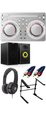 Pioneer DJ(パイオニア) / DDJ-WeGO4-W (ホワイト) 【rekordbox dj / Virtual DJ LE無償 】 激安定番Aセット 15大特典セット