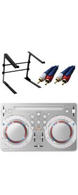 Pioneer DJ(パイオニア) / DDJ-WeGO4-W (ホワイト) 【rekordbox dj / Virtual DJ LE無償 】 激安定番オススメAセット 8大特典セット
