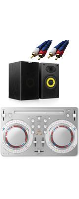 Pioneer DJ(パイオニア) / DDJ-WeGO4-W (ホワイト) 【rekordbox dj / Virtual DJ LE無償 】 激安定番オススメBセット 8大特典セット