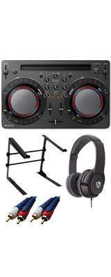 Pioneer DJ(パイオニア) / DDJ-WeGO4-K (ブラック) 【rekordbox dj / Virtual DJ LE無償 】 激安定番Cセット 14大特典セット