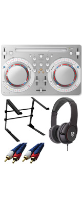 Pioneer DJ(パイオニア) / DDJ-WeGO4-W (ホワイト) 【rekordbox dj / Virtual DJ LE無償 】 激安定番Cセット 14大特典セット