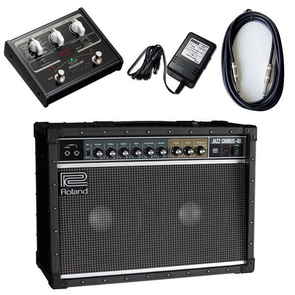 【VOX SL1Gマルチエフェクターセット】 Roland(ローランド) / JAZZ CHORUS JC-40 / StompLab SL1G「純正ACアダプター(KA-181)付」 - 40W ギター アンプ -