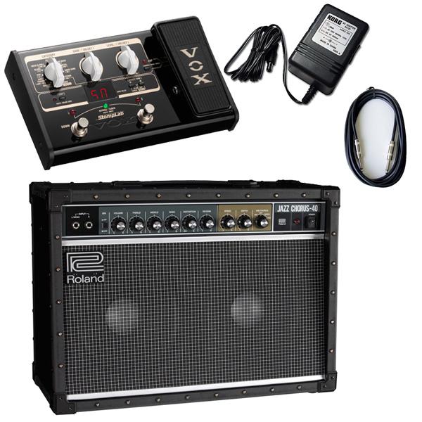 【VOX SL2Gマルチエフェクターセット】 Roland(ローランド) / JAZZ CHORUS JC-40 / StompLab SL2G「純正ACアダプター(KA-181)付」 - 40W ギター アンプ -