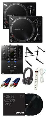 ■金利手数料20回まで無料■ Pioneer /PLX-500-K & DJM- S3 【Serato DJ Pro / Serato DVS無償】 DVSスタートセット 11大特典セット