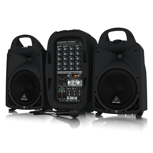 Behringer(ベリンガー) / PPA500BT EUROPORT ポータブルPAシステム 250W × 2 Bluetooth対応 - マイク ・ ケーブル 付き - 【国内最長3年保証】