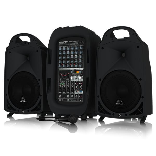 Behringer(ベリンガー) / PPA2000BT EUROPORT ポータブルPAシステム 1000W × 2 Bluetooth対応 - マイク ・ ケーブル 付き - 【国内最長3年保証】