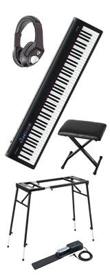 【イス付き4つ足スタンドセット】 Roland(ローランド) / FP-30-BK  - 電子ピアノ デジタルピアノ - 【次回未定】 1大特典セット