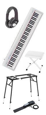 【イス付き4つ足スタンドセット】 Roland(ローランド) / FP-30-WH  - 電子ピアノ デジタルピアノ - 1大特典セット