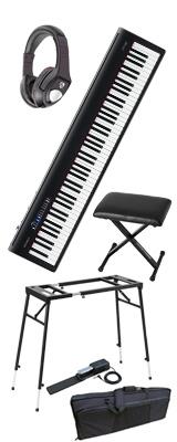 【イス付き4つ足スタンドモバイルセット】 Roland(ローランド) / FP-30-BK  - 電子ピアノ デジタルピアノ - 【次回未定】 1大特典セット