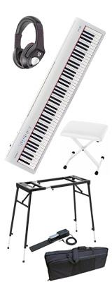 【イス付き4つ足スタンドモバイルセット】 Roland(ローランド) / FP-30-WH  - 電子ピアノ デジタルピアノ - 1大特典セット