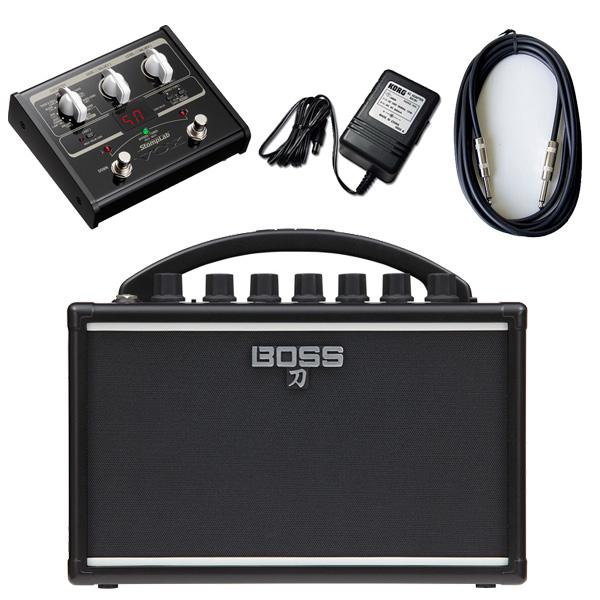 【VOX SL1Gマルチエフェクターセット】 Boss(ボス) / KATANA-MINI 【KTN-MINI】 / StompLab SL1G「純正ACアダプター(KA-181)付」 - バッテリー駆動 ポータブル・ギターアンプ -