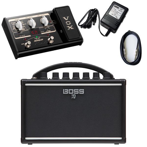 【VOX SL2Gマルチエフェクターセット】 Boss(ボス) / KATANA-MINI 【KTN-MINI】 / StompLab SL2G「純正ACアダプター(KA-181)付」 - バッテリー駆動 ポータブル・ギターアンプ -