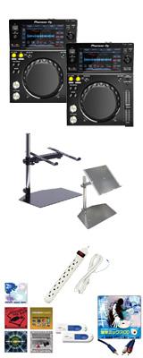 Pioneer DJ(パイオニア) / XDJ-700 2台 オススメスタンドAセット 10大特典セット