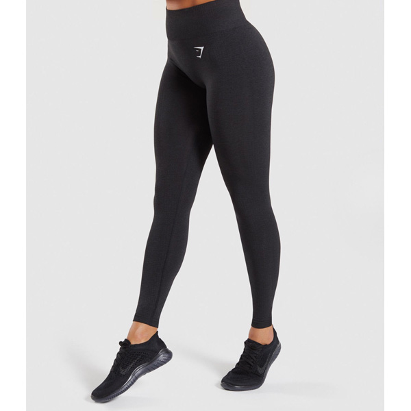Gymshark(ジムシャーク) / Vital Seamless High Waist Leggings (Black Marl XSサイズ) - レギンス ジム ヨガ ダンス ワークアウト - 《芸能人愛用》