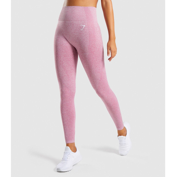 Gymshark(ジムシャーク) / Vital Seamless High Waist Leggings (DUSKY PINK MARL Mサイズ) - レギンス ジム ヨガ ダンス ワークアウト - 《芸能人愛用》