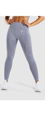 Gymshark(ジムシャーク) / Vital Seamless High Waist Leggings (STEEL BLUE MARL Mサイズ) - レギンス ジム ヨガ ダンス ワークアウト - 《芸能人愛用》