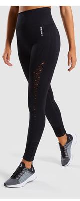 Gymshark(ジムシャーク) / Energy+ Seamless High Waisted Leggings (BLACK XSサイズ) - レギンス ジム ヨガ ダンス ワークアウト - 《芸能人愛用》