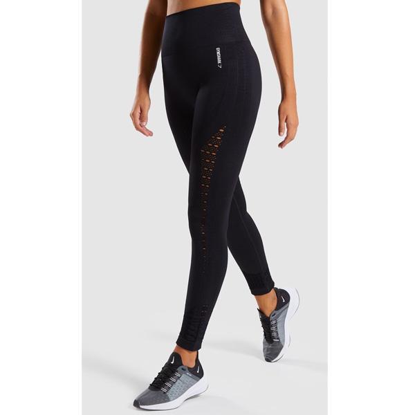 Gymshark(ジムシャーク) / Energy+ Seamless High Waisted Leggings (BLACK Mサイズ) - レギンス ジム ヨガ ダンス ワークアウト - 《芸能人愛用》