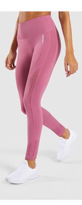 Gymshark(ジムシャーク) / Energy+ Seamless High Waisted Leggings (DUSKY PINK Mサイズ) - レギンス ジム ヨガ ダンス ワークアウト - 《芸能人愛用》