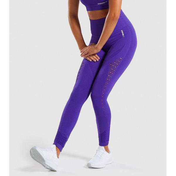 Gymshark(ジムシャーク) / Energy+ Seamless High Waisted Leggings (INDIGO XSサイズ) - レギンス ジム ヨガ ダンス ワークアウト - 《芸能人愛用》