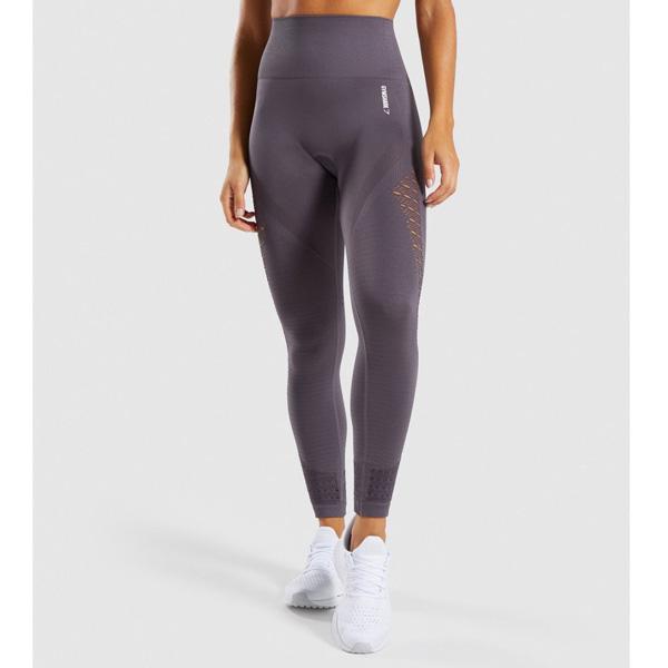 Gymshark(ジムシャーク) / Energy+ Seamless High Waisted Leggings (SLATE LAVENDER XSサイズ) - レギンス ジム ヨガ ダンス ワークアウト - 《芸能人愛用》