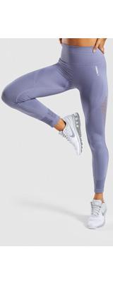 Gymshark(ジムシャーク) / Energy+ Seamless High Waisted Leggings (STEEL BLUE Lサイズ) - レギンス ジム ヨガ ダンス ワークアウト - 《芸能人愛用》