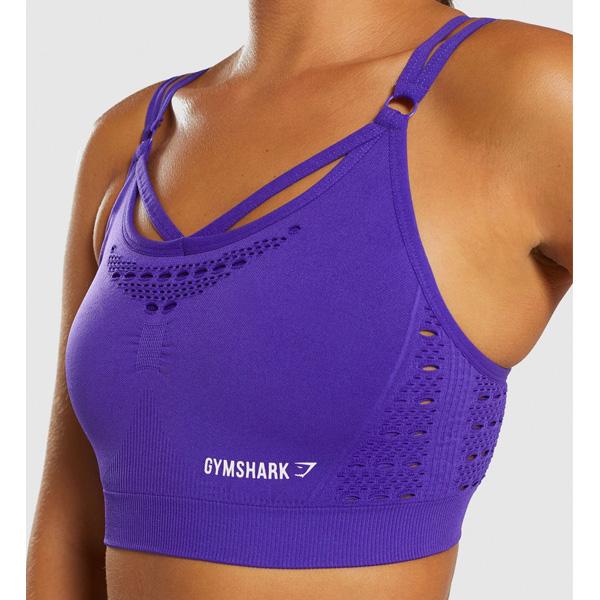 Gymshark(ジムシャーク) / Energy+ Seamless Sports bra (INDIGO Sサイズ) - スポーツブラジャー ジム ヨガ ダンス ワークアウト - 《芸能人愛用》