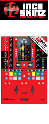 ■ご予約受付■ 12inch SKINZ / Rane SEVENTY-TWO SKINZ (RED/BLACK) 【SEVENTY-TWO 用マグネットタイプスキン】
