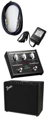 【VOX SL1Gマルチエフェクターセット】 FENDER(フェンダー) / MUSTANG GT100 / StompLab SL1G「純正ACアダプター(KA-181)付」 - Wi-Fi機能搭載 100W ギター アンプ - 3大特典セット