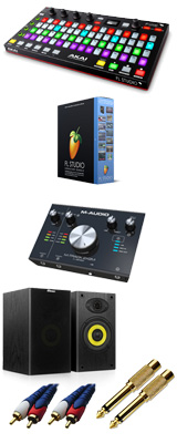 Image-Line(イメージライン) / FL Studio 20 Signature 【通常版】 & Akai(アカイ) / FIRE M-TRACK 2x2M DTM初心者セットB 3大特典セット