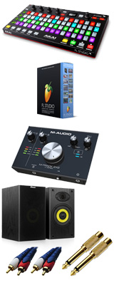 Image-Line(イメージライン) / FL Studio 20 Signature 【通常版】 & Akai(アカイ) / FIRE M-TRACK 2x2 DTM初心者セットB 3大特典セット