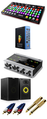 Image-Line(イメージライン) / FL Studio 20 Signature 【通常版】 & Akai(アカイ) / FIRE KOMPLETE AUDIO 6 DTM初心者セットB 3大特典セット