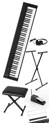 ■ご予約受付■ 【X型スタンド&イスセット】Korg(コルグ) / D1 スピーカーレス デジタルピアノ 「譜面立て・ダンパーペダル・ヘッドホン付き」 1大特典セット