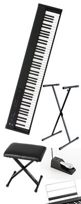 【X型スタンド&イスセット】Korg(コルグ) / D1 スピーカーレス デジタルピアノ 「譜面立て・ダンパーペダル・ヘッドホン付き」 〜数量限定ワイヤレスヘッドホン付き〜 2大特典セット