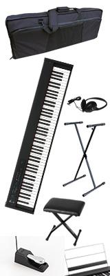 ■ご予約受付■ 【撥水バッグ&X型スタンド&イスセット】 Korg(コルグ) / D1 スピーカーレス デジタルピアノ 「譜面立て・ダンパーペダル・ヘッドホン付き」 1大特典セット