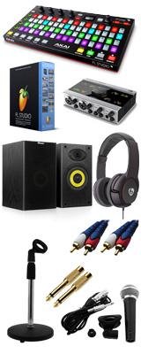 Image-Line(イメージライン) / FL Studio 20 Signature 【通常版】 & Akai(アカイ) / FIRE KOMPLETE AUDIO 6 DTM初心者レコーディングセットB 6大特典セット