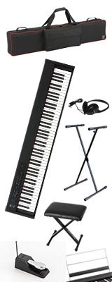 ■ご予約受付■ 【専用バッグ&X型スタンド&イスセット】 Korg(コルグ) / D1 スピーカーレス デジタルピアノ 「譜面立て・ダンパーペダル・ヘッドホン付き」 1大特典セット