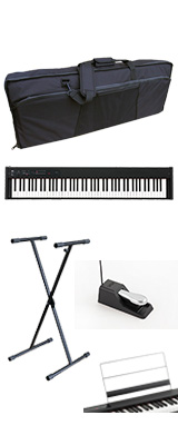 【撥水バッグ&X型スタンドセット】 Korg(コルグ) / D1 スピーカーレス デジタルピアノ 「譜面立て・ダンパーペダル・ヘッドホン付き」 〜数量限定ワイヤレスヘッドホン付き〜 2大特典セット