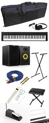 ■ご予約受付■ 【モニタースピーカーセット】 Korg(コルグ) / D1 スピーカーレス デジタルピアノ 「譜面立て・ダンパーペダル・ヘッドホン付き」 2大特典セット