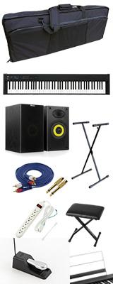 【モニタースピーカーセット】 Korg(コルグ) / D1 スピーカーレス デジタルピアノ 「譜面立て・ダンパーペダル・ヘッドホン付き」 〜数量限定ワイヤレスヘッドホン付き〜 3大特典セット