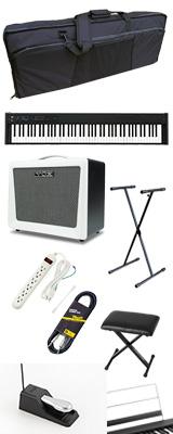 【VOXアンプセット】 Korg(コルグ) / D1 スピーカーレス デジタルピアノ 「譜面立て・ダンパーペダル・ヘッドホン付き」 〜数量限定ワイヤレスヘッドホン付き〜 3大特典セット