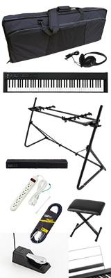 ■ご予約受付■ 【SonicBarセット(ブラック)】 Korg(コルグ) / D1 スピーカーレス デジタルピアノ 「譜面立て・ダンパーペダル・ヘッドホン付き」 2大特典セット