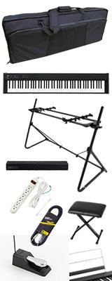 【SonicBarセット(ブラック)】 Korg(コルグ) / D1 スピーカーレス デジタルピアノ 「譜面立て・ダンパーペダル・ヘッドホン付き」 〜数量限定ワイヤレスヘッドホン付き〜 3大特典セット