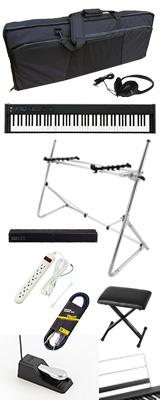 ■ご予約受付■ 【SonicBarセット(シルバー)】 Korg(コルグ) / D1 スピーカーレス デジタルピアノ 「譜面立て・ダンパーペダル・ヘッドホン付き」 2大特典セット